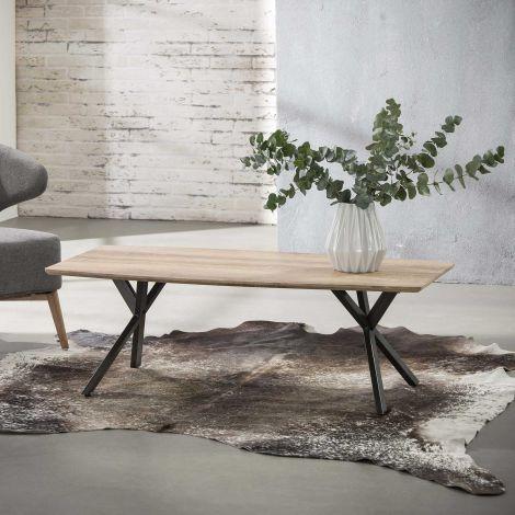 Table basse Alec 60x120 industriel - chêne