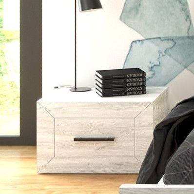 Table de chevet Neal 1 tiroir - chêne gris