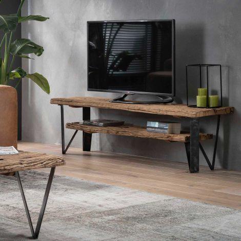 Meuble TV Wannes 160cm - brun/noir