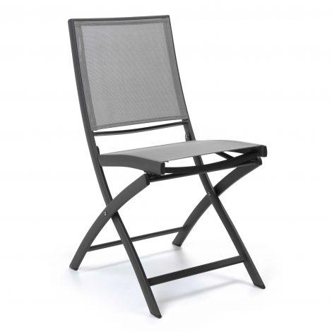 Chaise de jardin Carrie - anthracite/gris argenté