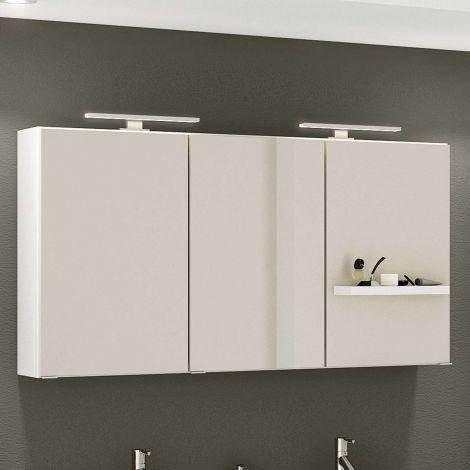 Armoire de toilette Hansen 120cm 3 portes - blanc
