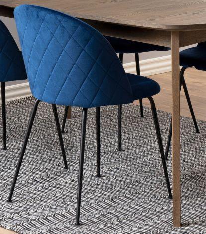 Set de 2 chaises Isa - bleu foncé/noir
