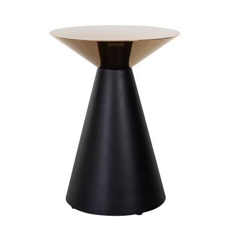 Table d'appoint Ledecky ø45cm - noir/or