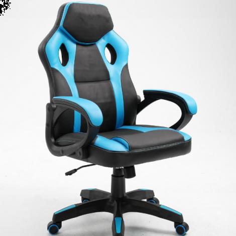 Chaise gamer Matt - noir/bleu clair