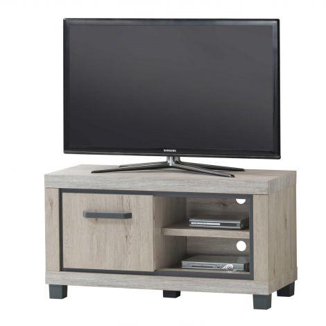 Meuble tv Dirk 110cm à 1 porte - gris
