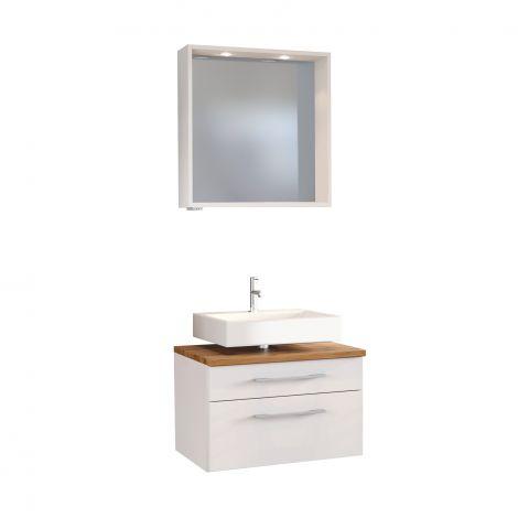 Set meuble sous lavabo & miroir Dasa 60cm - blanc