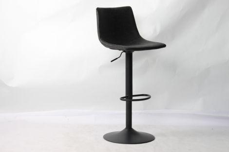 Lot de 2 chaises de bar réglables Fontana - noir