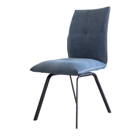 Jeu de 2 chaises Salerno - bleu