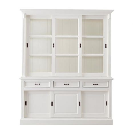 Vaisselier Provence 180cm à 6 portes & 3 tiroirs - blanc