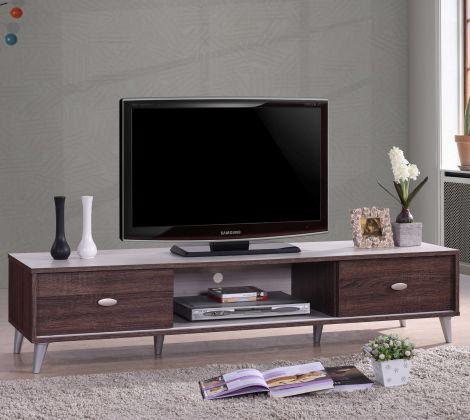 Meuble TV Anna 150cm - brun/blanc