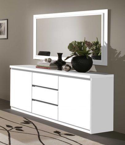 Bahut Roma 2 portes & 3 tiroirs - blanc