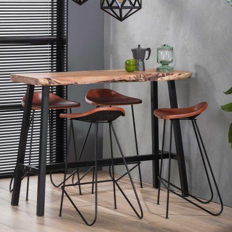 Table de bar Remi 125x46 - bois d'acacia