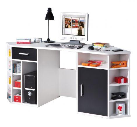 Bureau pour ordinateur Vasto - blanc