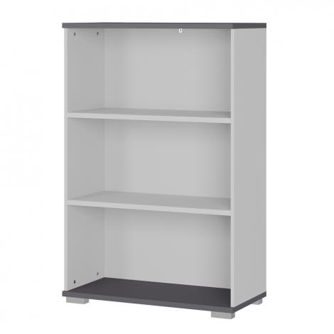 Bibliothèque basse Presley 80cm - gris clair