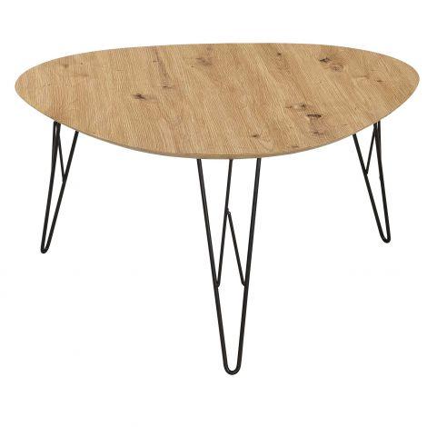 Table basse Ramblas 80x78 - métal/chêne