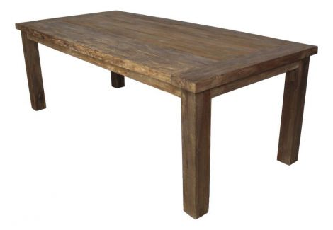 Table de jardin Napoli - 180x90 cm - naturel - teck