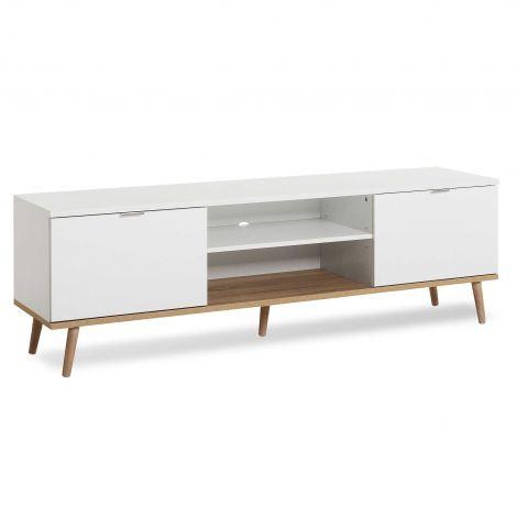 Meuble TV Göteborg 160cm - blanc