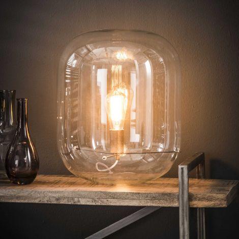 Lampe de table abat-jour de verre - Verre transparent