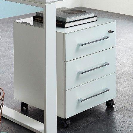 Caisson à tiroirs Mouna - blanc
