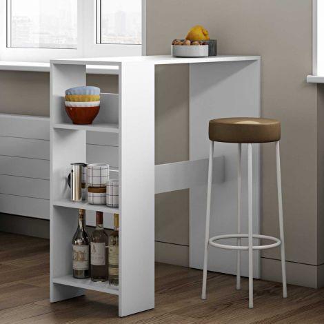 Table de bar Carnilla - blanc