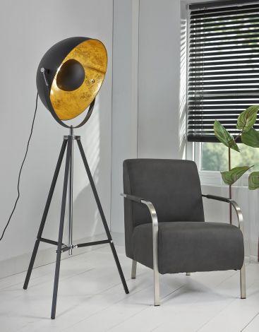 Lampadaire Spotlight - noir