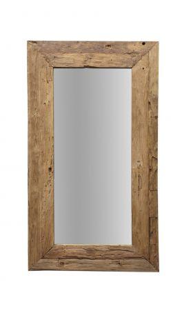 Miroir mural Rustic - 140x90 cm - bois flotté teck