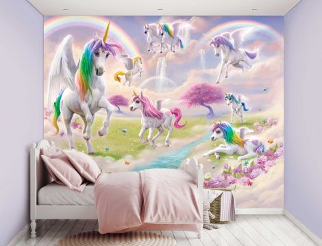 Papier peint pour enfants Magical Unicorn