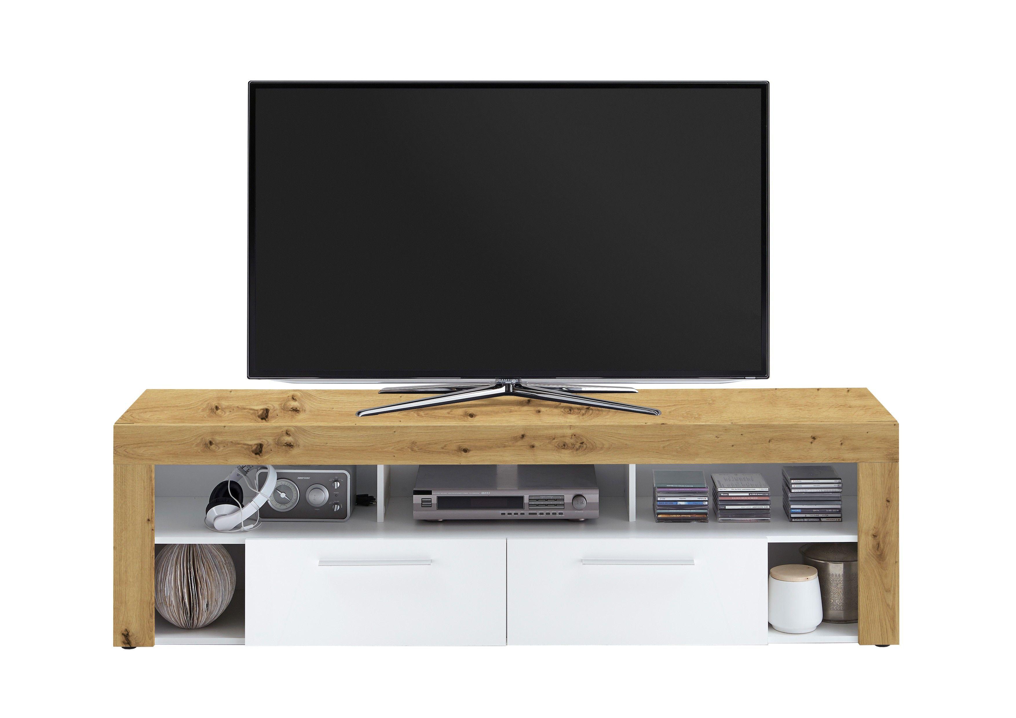 Panneau Mural Derriere Tv meuble tv vidi 180 cm - chêne vielli