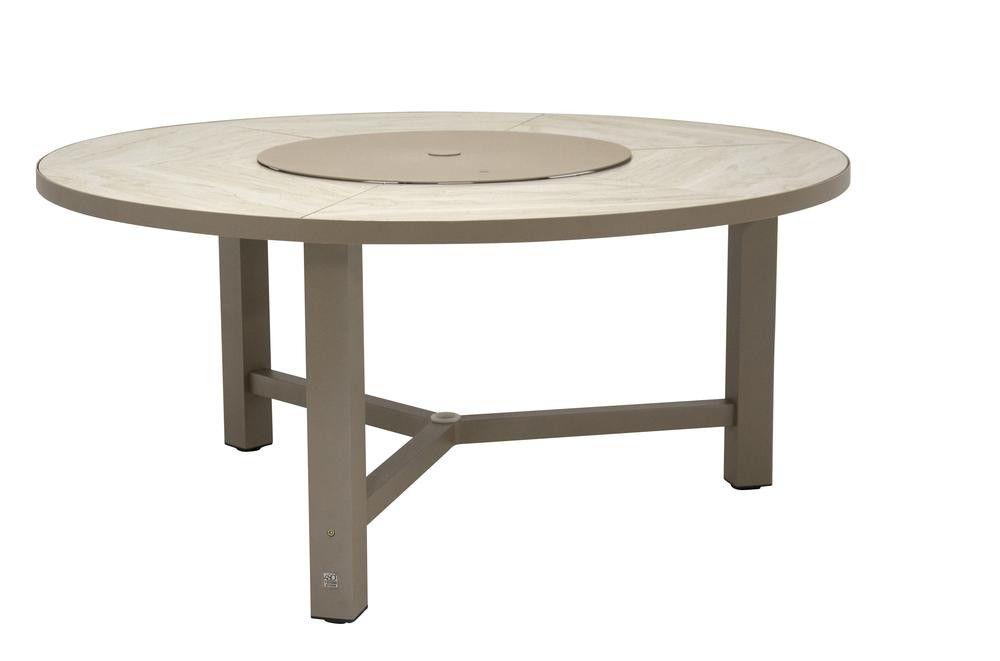 Table de jardin ronde Diva - taupe