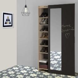 armoire à chaussures avec miroir